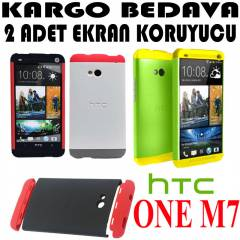 HTC ONE M7 KILIF 3 PARÇALI CUSTOM DOUBLE DİP
