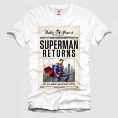 Superman Return: Daily Planet Erkek Tişört