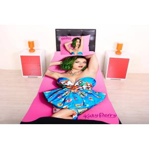 * POP ART KATY PERRY TEK K��. YATAK �RT�S� *