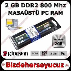 2 GB DDR2 800 MHZ KİNGSTON MASAÜSTÜ RAM SIFIR
