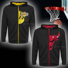 L.A Lakers ve Chicago Bulls Nba Çoçuk Hoodie Sweatshirt