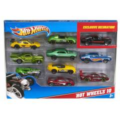 1:64 HOT WHEELS 10'LU METAL ARABA OYUN SET�