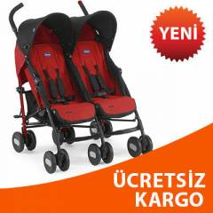 CHICCO ECHO İKİZ PUSET YANYANA RED