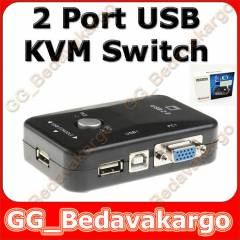 2 PORT USB KVM SWİTCH 2 PC KASA TEK KONTROL