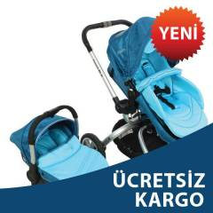Kraft Twist Rlx Travel Sistem Bebek Arabası Mavi