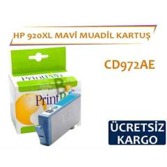 HP 920 XL Mavi Muadil Kartu� CD972AE