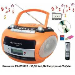 Kamosonic KS-MS9226 Kaset FM USB CD Müzik Seti