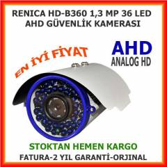 RENICA 36 BIG LED 1,3 MP AHD GÜVENLİK KAMERASI