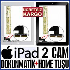 APPLE IPad 2 CAM LCD DOKUNMATİK LENS +Home Tuşu