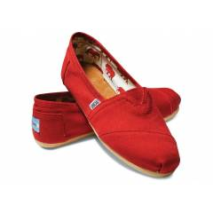 TOMS Red Canvas Mens 44