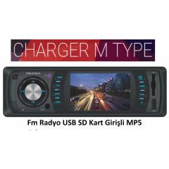 Piranha Charger M Type FM USB SD MP5 Oto Teyp