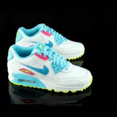 NIKE AIR MAX 90 Wht/Blue-Lagoon-Volt-wmns shoes
