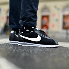 Nike Classic Cortez Leather Black/White men shoe