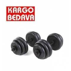 Spin 30 KG Vinyl Dambıl Bar Set Dumbell