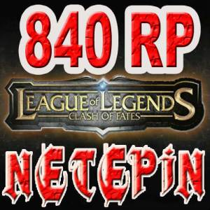 840 RP League of Legends LOL TR Riotpin