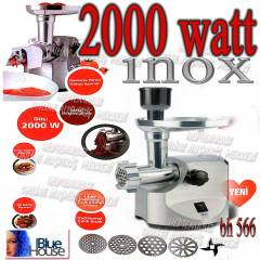 bluehouse 566 inox 2000 WATT ET KIYMA MAKİNESİ