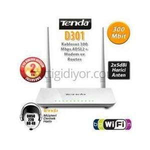 TENDA D301 4Port WiFi-N 300Mbps ADSL2+ Modem