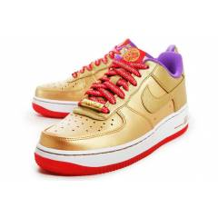 NIKE AIR FORCE GOLD-RED-PURPLE WMNS SHOE
