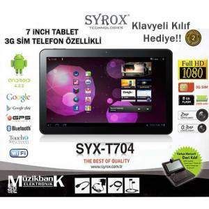 SYROX SYX-T704 7'' TABLET 3G S�M KART �ZELL���