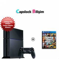 SONY PS4 500 GB (PAL) KONSOLU + GTA 5 PS4 OYUN *