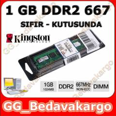 Kingston 1 GB DDR2 667 MHZ RAM Kutulu - Sıfır