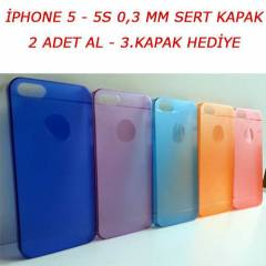 iPHONE 5-5S KILIF 0.3MM ULTRA İNCE SERT KAPAK