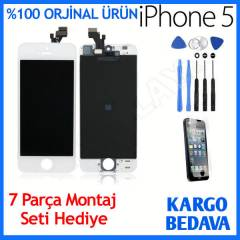 İPHONE 5 LCD EKRAN+DOKUNMATİK ÖN CAM PANEL SET
