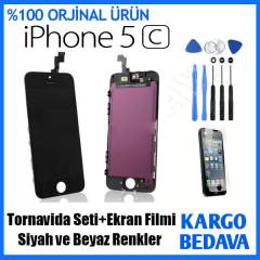 İPHONE 5C LCD EKRAN+DOKUNMATİK ÖN CAM PANEL SET