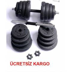 22 KG PLASTİK VİNLY DAMBIL SET AĞIRLIK GYM