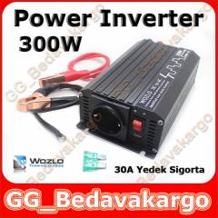 WOZLO 300W WATT POWER INVERTÖR İNVERTER USB Lİ