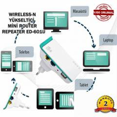 WIRELESS-N YÜKSELTİCİ MİNİ ROUTER REPEATER EDUP