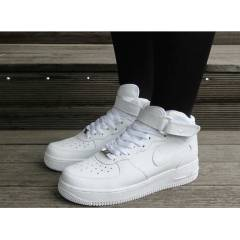 NIKE AIR FORCE 1 MID FULL WHITE WMNS SHOES