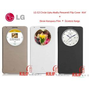 LG Optimus G3 Quick Circle Uyku Modlu Kılıf