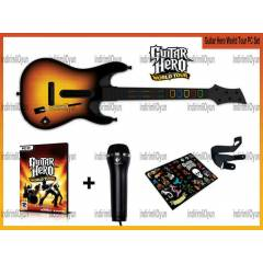 GUITAR HERO WORLD TOUR GİTAR+OYUN+ MIKROFONPC