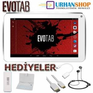Evotab 4 �ekirdekli Tablet Pc + Klavye+Powerbank