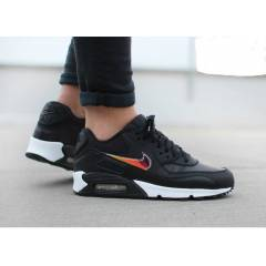NIKE AIR MAX 90 BLK-WHT-GOLD WMNS SHOES