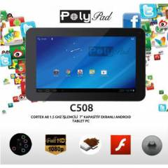 PolyPad C508 ANDROID  Wİ-Fİ TABLET PC 1.5GHZ