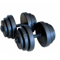 20 KG PLASTİK VİNLY DAMBIL SET AĞIRLIK GYM