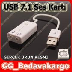 7+1 USB SES KARTI VİRTUAL 3D KABLOLU WİN7