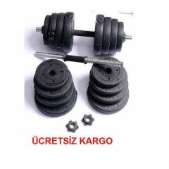 AĞIRLIK ** 30 KG DELUX VİNLY DAMBIL SET  GYM