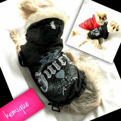 JUICY COUTURE BLACK Mont Köpek Kıyafeti