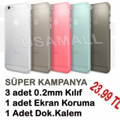 iPhone 6 Kılıf Silikon Esnek 5IN1 SUPER-FULL SET