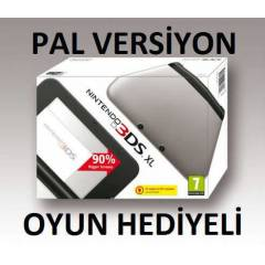 Nintendo 3DS XL PAL MAKİNA SILVER BLACK +1 OYUN