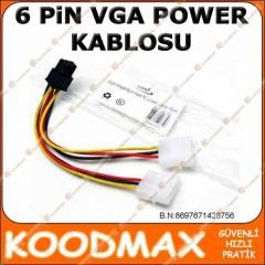 EKRAN KARTI POWER GÜÇ KABLOSU 6 Pin PCI