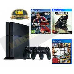 SONY PS4 500 GB+GTA 5+PES 15+CALL OF DUTY ADVAN