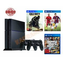 SONY PS4 500 GB+GTA 5+FİFA 15+CALL OF DUTY ADVAN