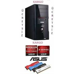 AMD A8 4ÇEKİRDEK 3,6X4+4GB RAM+1 TB  HDD+2GB EKK