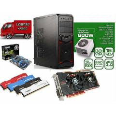AMD 8320 8ÇEKİRDEK +8GB RAM+500gb HDD+2GB 256BİT