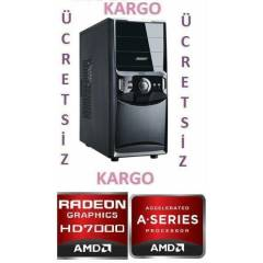 AMD A8 4ÇEKİRDEK 3,6X4+4GB RAM+320 GB HD+2GB EKK