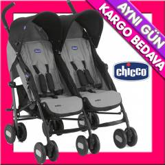 Chicco Echo Baston İkiz Bebek Arabası Coal
